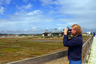 Bird Watching over the Fleet Lagoon at Chesil