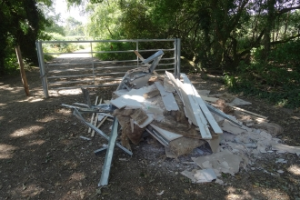 Fly Tipping on Upton Heath by Andy Fale