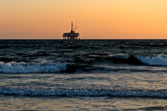 Oil Rig in Poole Bay