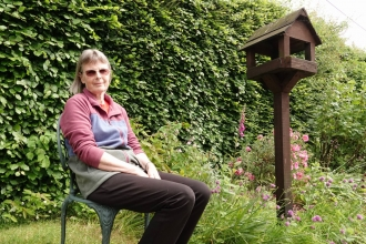 Alison Copland DWT volunteer in garden
