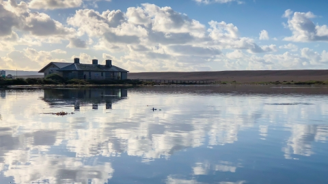 The Chesil Beach Centre from the Fleet Lagoon by Marc Kativu Smith