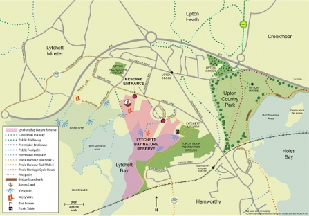 Lytchett Bay Nature Reserve Map