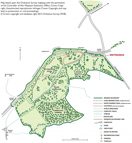 Powerstock Common Nature Reserve Map