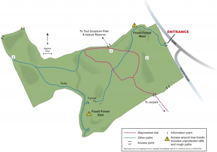 King Barrow Quarries Reserve Map