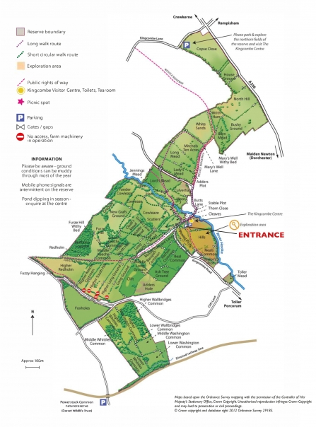 Kingcombe Meadows Nature Reserve Map