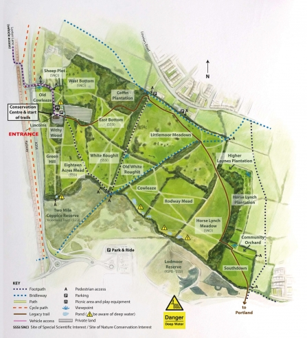 Lorton Meadows Nature Reserve Map