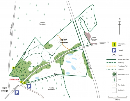 Sopley Common Nature Reserve Map