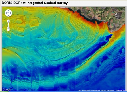 DORIS map of the seabed