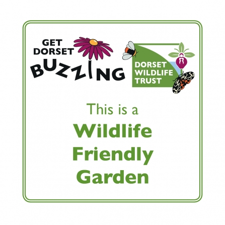 Get Dorset Buzzing Wildlife Friendly Garden Scheme Plaque