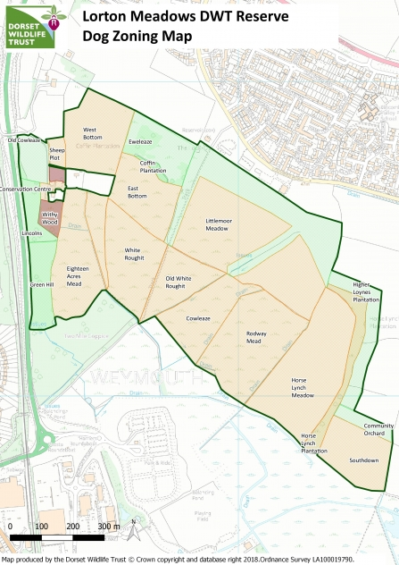 Lorton Meadows Dog Zoning Map